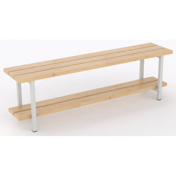 Banco sencillo con zapatero de madera pino for Bancos zapateros de madera
